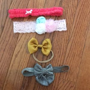 Other - 4 Baby Girl Bows / Headbands